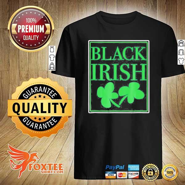 Black irish st. patrick's day shirt