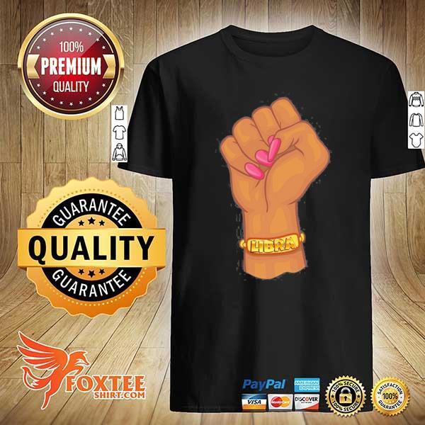 Black power feminist libra zodiac sign shirt