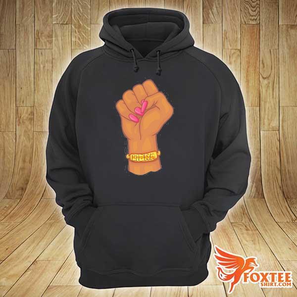 Black power feminist libra zodiac sign s hoodie