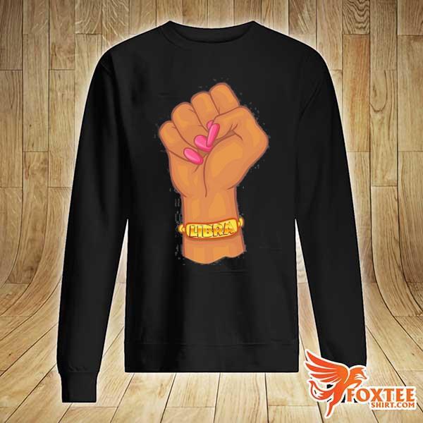 Black power feminist libra zodiac sign s sweater