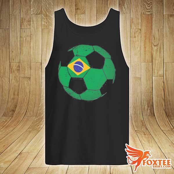 Brazil soccer ball flag jersey brazilian football s tank-top