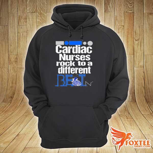 Cardiac nurse anatomical heart telemetry ekg rhythm gift s hoodie