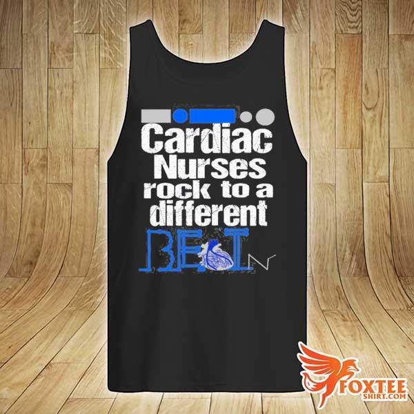 Cardiac nurse anatomical heart telemetry ekg rhythm gift s tank-top