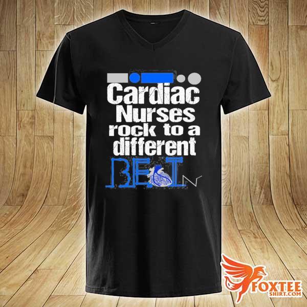 Cardiac nurse anatomical heart telemetry ekg rhythm gift s v-neck