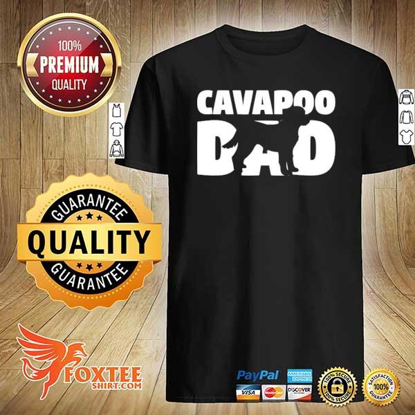 Cavapoo gift for dog father 'cavapoo dad' cavapoo shirt