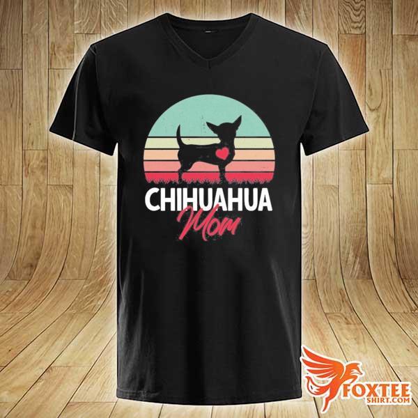 Chihuahua mom chihuahua owner chihuahua lover vintage retro s v-neck