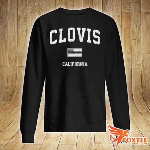 Clovis California ca vintage American flag s sweater