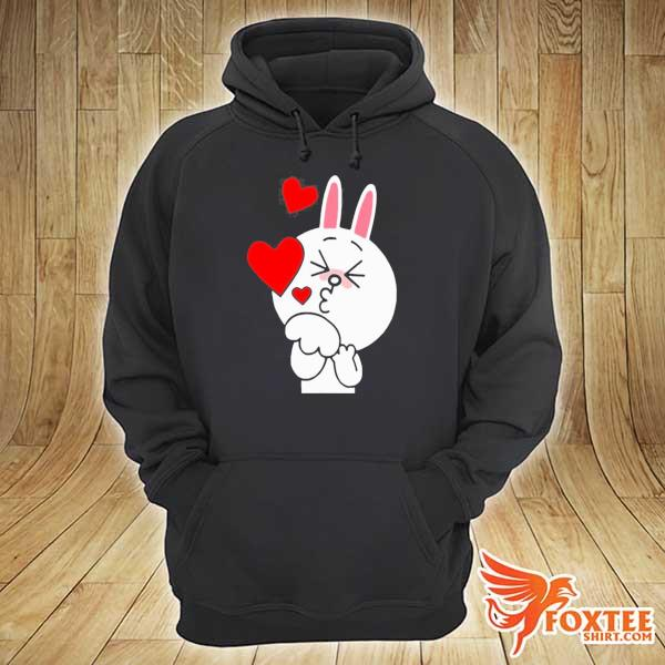Cute cony bunny rabbit brown bear lover blowing kisses kiss s hoodie
