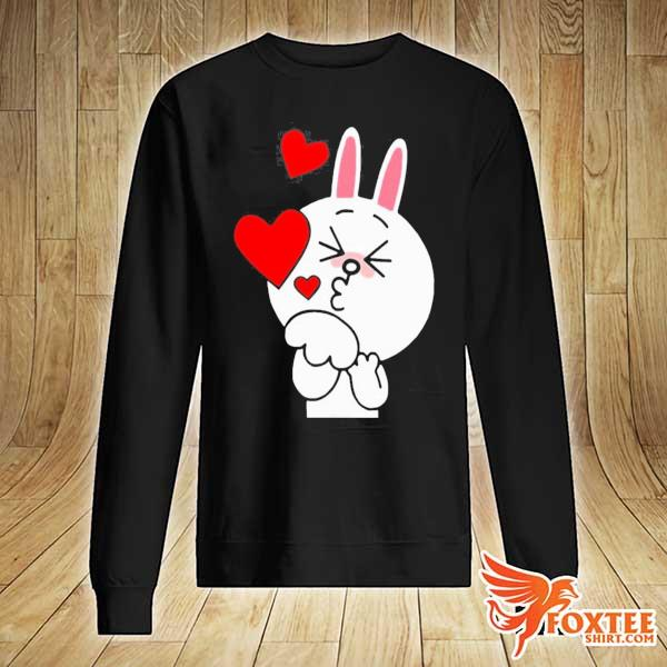 Cute cony bunny rabbit brown bear lover blowing kisses kiss s sweater