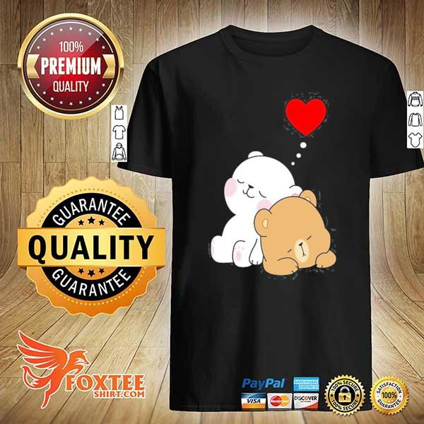 Cute milk mocha bear dream lovers love hugs kisses valentine shirt