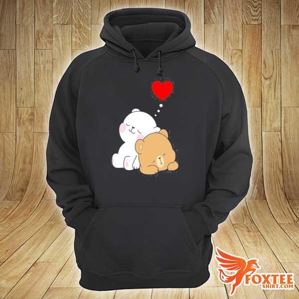 Cute milk mocha bear dream lovers love hugs kisses valentine s hoodie