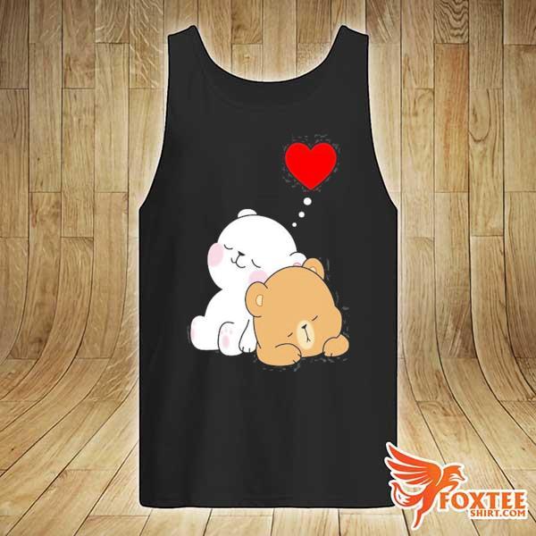 Cute milk mocha bear dream lovers love hugs kisses valentine s tank-top