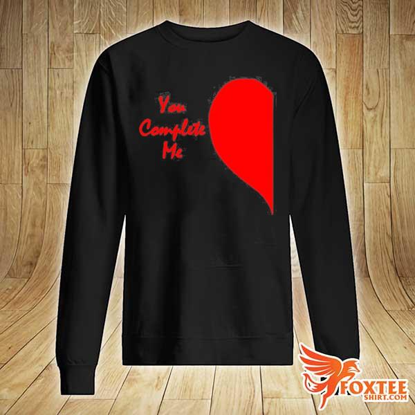 Cute right half heart valentines day you complete me s sweater