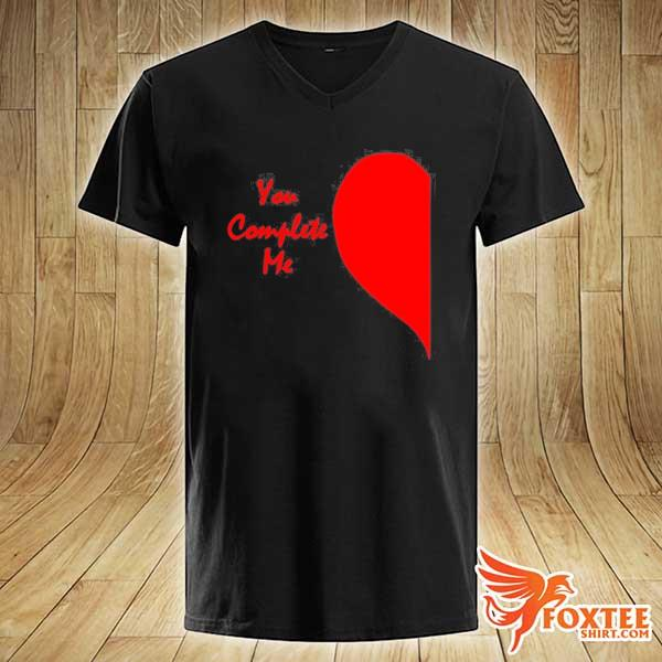 Cute right half heart valentines day you complete me s v-neck