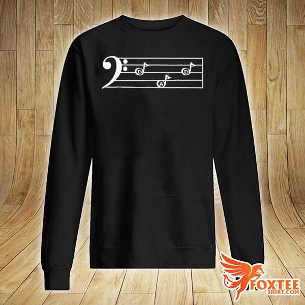 Dad f cleff bass player father's day gif s sweater