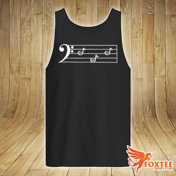 Dad f cleff bass player father's day gif s tank-top